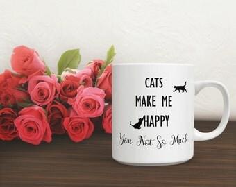 Coffee Cup Cat Gift, Big Coffee Mug, Animal Mug, Funny Cat Coffee Mug, Cute Cat Mug, Funny Cat Coffee Mug, Mugs for Cat Lovers, Cat Mug