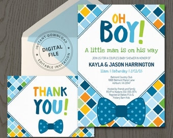 bow tie baby shower invitations themed baby boy invitation template little man