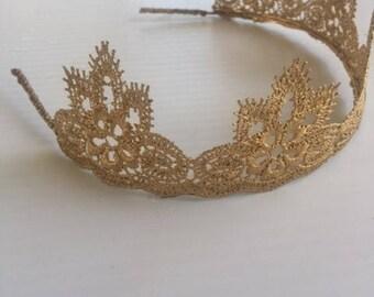 Adult crown headband, Gold Crown headband, Princess crown, Toddlers crown, Adult crown headband, birthday headband, Birthday crown