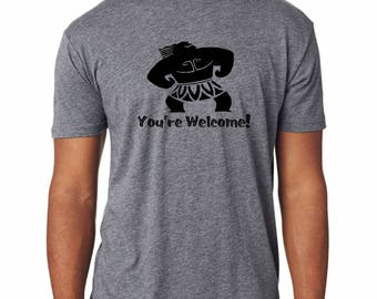 Premium shirt Disney Moana inspired Maui You're Welcome Your Welcome tshirt 6010 Next Level