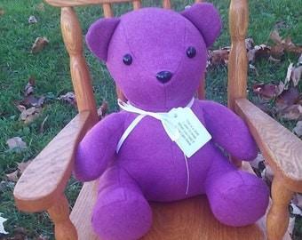 """Memory Bear 13"""",Memory Bear, Keepsake Teddy Bear, Custom Stuffed Memory Bear"""
