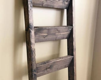 Blanket Ladder | Rustic Ladder Shelf | Wood Blanket Ladder | Blanket Ladder Rack | Decorative Ladder | Quilt Ladder | Towel Ladder | Storage