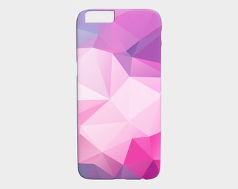 iPhone 7 Case - Gift for Her - iPhone 6 Case - Pink and Purple Geometric iPhone 6S Case - Samsung Galaxy S6 Case - iPhone 5s Case