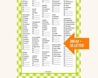 Grocery List Printable, Grocery List PDF, Grocery Printable, Grocery List, Shopping List, Healthy Eating, Holistic Habits, Shopping List PDF