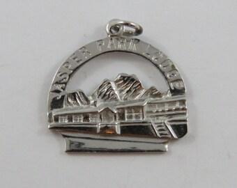 Jasper Park Lodge Alberta Canada Sterling Silver Charm or Pendant.