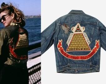 s a l e 1980s Madonna Desperately Seeking Susan Denim Jacket
