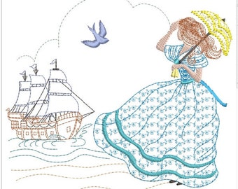 """Southern belle machine embroidery download 3 diff sizes ( 5X5   6X6   7X7 """")"""