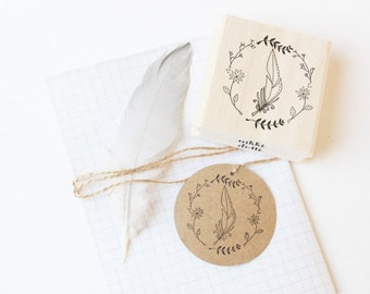 Rubber stamp Feather