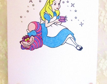 Alice in Wonderland Card: Add a Greeting or Leave Blank