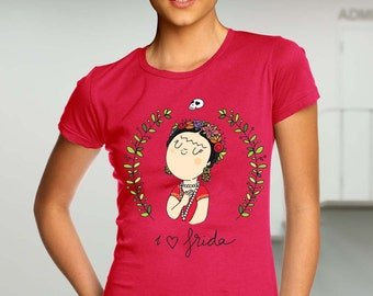 Frida Kahlo shirt - mexican artist shirt - red women clothing  Women T-Shirt Frida Kahlo T Shirt - Frida Kahlo Women Shirt - Gift for Her