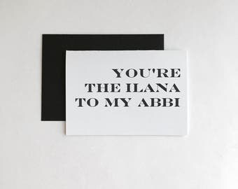 Minimalist Broad City Inspired Greeting Cards