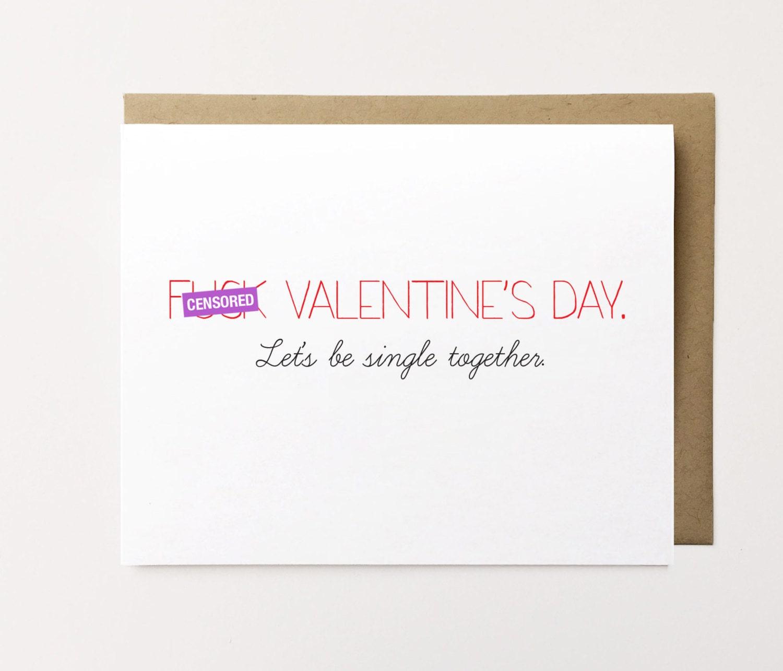 Single friend card – Valentines Day Friend Card