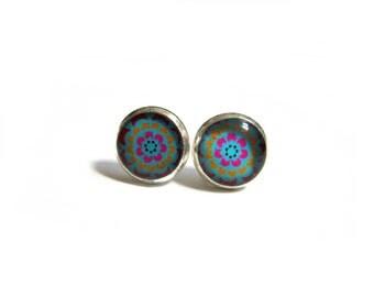 FLOWER GIRL EARRINGS - Girls Earrings - Turquoise Earrings - Maid of Honor Earrings- Wedding Earrings- Flower Girl Gift- Flower Girl Jewelry
