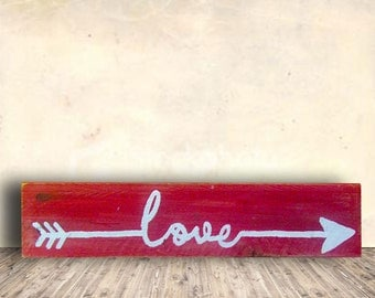 Love Sign - Tribal Arrows - Red Sign - Love - Tribal - Arrow - Love Tribal Sign - Birthday Gift - Valentines Gift