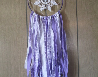 Purple Bohemian Doily Dream Catcher