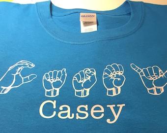 Custom American Sign Language Shirt for Adults