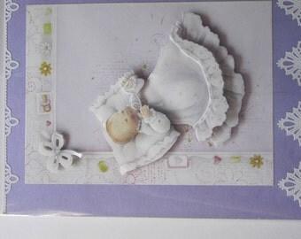 Handmade Baby Shower Card for girl