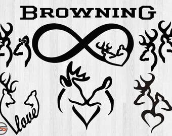 Browning SVG files, Browning logo svg, deer svg, hunting svg, deer head svg, country svg, svg files for silhouette, cricut download,cutfile