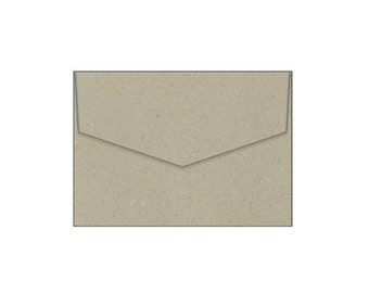 "100% Recycled Botany Natural Kraft Envelopes - PACK OF 10 - 5 x 7"" - 130mm x 190mm"