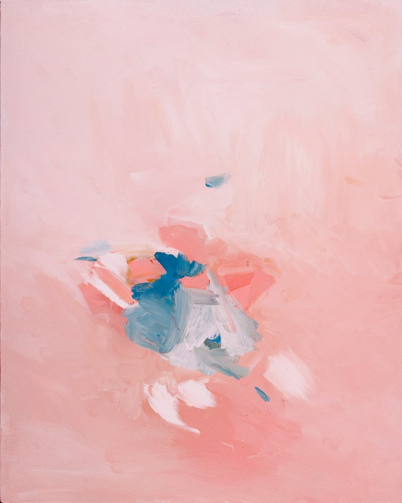 Modern Abstract Painting - pink and blue