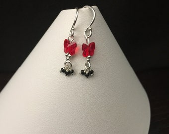 Christmas Bow Earrings (Sterling Silver)