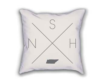 Nashville Home Pillow - Tennessee Pillow, Tennessee Home Decor, Nashville Home Decor, Tennessee Home Pillow, Tennessee Throw Pillow