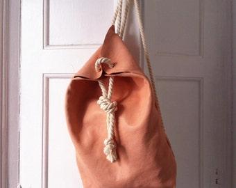 Leather backpack made in Barcelona / / rucksack made skin in Barcelona