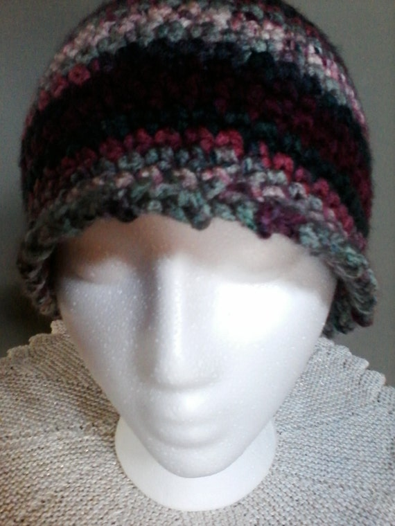 Free Crochet Pattern Multi Colored Hat : crocheted multi-colored soft yarn hat by woodorwool on Etsy