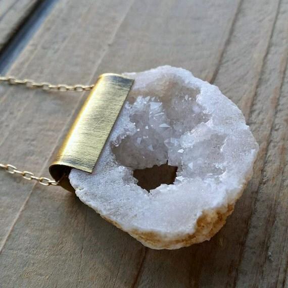 Geode Quartz Carabiner