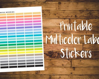 Multicolor Labels - Printable Planner Stickers -