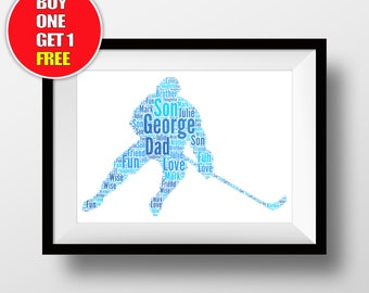 Ice hockey artwork,  ice hockey present, ice hockey sign , ice hockey word art