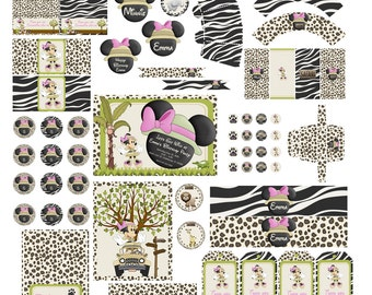 Minnie Safari Party | Minnie Mouse Safari Party | Minnie Mouse Party | Minnie Birthday | Minnie Mouse Birthday | Baby Girl Safary Party