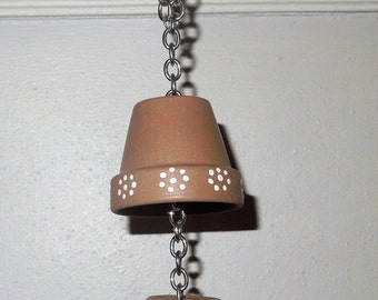 mini terra cotta pots on a chain