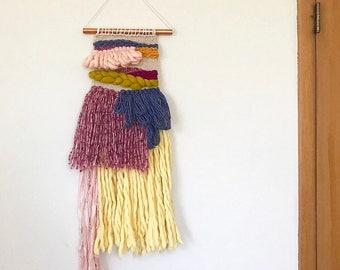 Weaving Wall Hanging, Woven Wall Art, Woven Tapestry, Yarn Wall Hanging, Modern Fiber Art