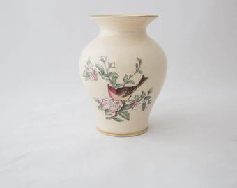 Vintage Lenox China Serenade Bird Vase Medium