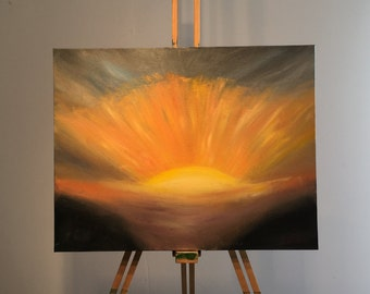 Painting - Sunset burst
