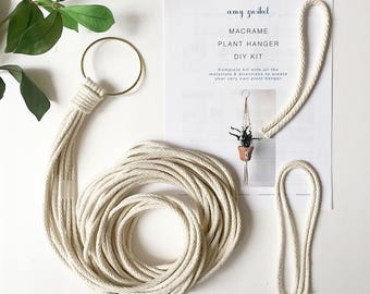 DIY Macrame Plant Hanger! Materials and Pattern - Macrame Kit - DIY Kit - Macrame Plant Hanger Kit - Macrame Pattern - Macrame Plant Hanger