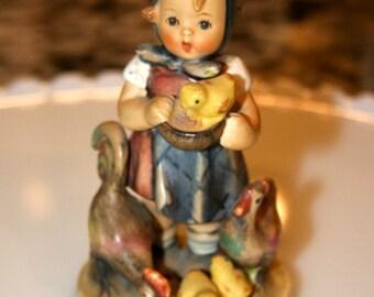 """Hummel Figurine """"Feeding Time""""//TMK3 ~ 199/0 Figurine//Vintage Hummel Figurine"""