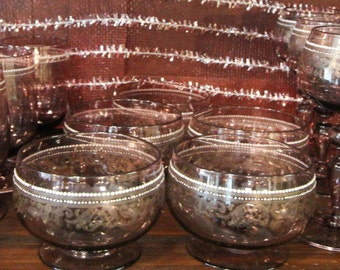 Fine Bohemian/Venetian Sherbets With Gilded Designs 19/20th C