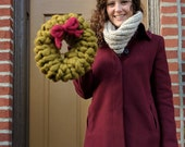 Giant Knit Holiday Wreath