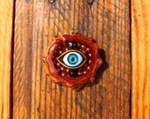Third Eye Pinecone Pendant w/Hematite & Copper // Pinecone Pendant // Heady Pendant // Pinecone Necklace // Third Eye Pinecone // Third Eye