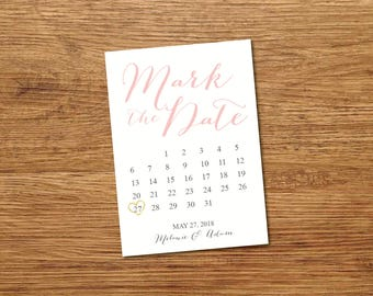 Save the Date Calendar Template/Save the Date Postcard Printable/Save the Date Announcement/Printable Save the Date Card/Mark the Date Card