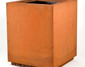 "20""x20""x24"" Corten Weathering Steel Planter"