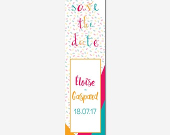 Save the date customizable - typographic - colorful - geometric - calligraphy