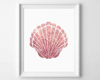 Seashell Print, Seashell Wall Art, Sea Shell Prints, Shell Art, Marine Art Print, Beach Wall Decor, Printable Shells, Marine Wall Art, Shell