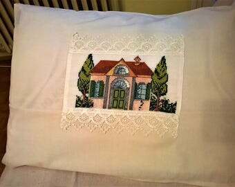 Pillow Cover, Pillow Case, Decorative pillow, Embroding, Case, Cover, Decoration, Gift, Home decor