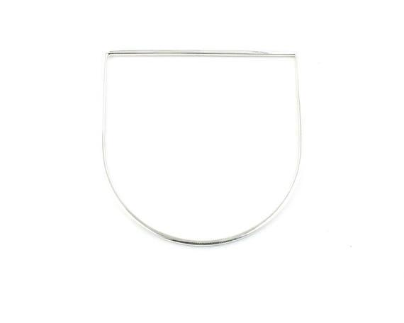 Sterling Silver Minimal Bar Bangle, Modern, Contemporary, Minimalist, Geometric, Bar Bracelet