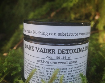 Dark Vader Detoxinator- Active charcoal mask, Clay mask, Detox mask, Purifying mask, Blemish treatment