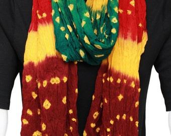 Handmade multicolor tie and dye scarf,Chunri traditional scarf,Cotton scarf,All season scarf dupatta,Ethnic scarf,Fashion scarf,Gift for her