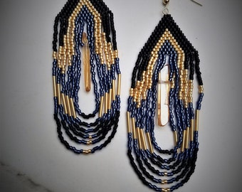 Crystaline Woven Dangle Earrings